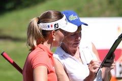 Fourqueux高尔夫球夫人的马里Ricordeau打开 免版税库存图片