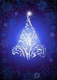 Fourrure-arbre brillant de Noël Illustration Libre de Droits