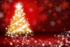 Fourrure-arbre de Noël avec des flocons de neige Photos libres de droits