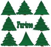 Fourrure-arbres illustration stock