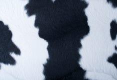 Fourrure noire et blanche artificielle Photographie stock libre de droits