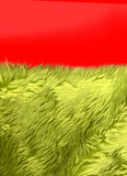 Fourrure synthétique verte Image libre de droits