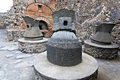 Fours antiques de pain dans la ville de Pompeii l'Italie photographie stock