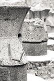 Fours antiques de pain dans la ville de Pompeii l'Italie image stock