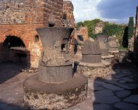 Fours de boulangerie, Pompeii, Italie. photographie stock
