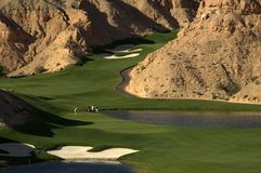 Foursome. Four golfers at one of the most difficult courses in USA, wolf creek, nevada Stock Images