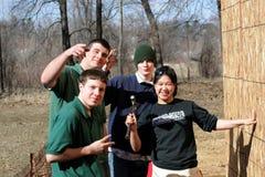 Foursome di Happpy fotografie stock libere da diritti