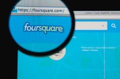 Foursquare royalty-vrije stock afbeelding