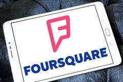 Foursquare app embleem stock afbeeldingen