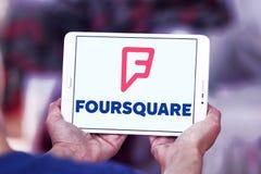 Foursquare app-logo royaltyfri foto