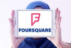 Foursquare app-logo royaltyfri bild