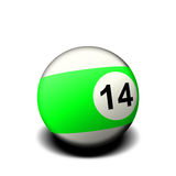 Fourteen ball Royalty Free Stock Photos