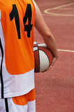 Fourteen basketball player Royalty Free Stock Photo