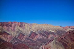 Fourteen colors hill, at humahuaca, north of argentina