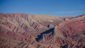 The fourteen colors mountain view stock photography