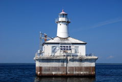 Fourteen Foot Shoal Lighthouse. On the Straits of Mackinac, Mich Stock Photos