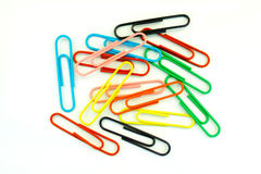 Fourteen paperclips Royalty Free Stock Photos