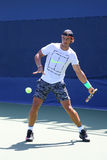Fourteen times Grand Slam Champion Rafael Nadal of Spain practices for US Open 2015 Stock Photo