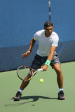 Fourteen times Grand Slam Champion Rafael Nadal of Spain practices for US Open 2015 Royalty Free Stock Photo