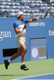 Fourteen times Grand Slam Champion Rafael Nadal of Spain practices for US Open 2015 Royalty Free Stock Image