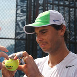 Fourteen times Grand Slam Champion Rafael Nadal of Spain practices for US Open 2015 Royalty Free Stock Photography
