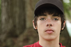 Fourteen year old teenager boy royalty free stock image
