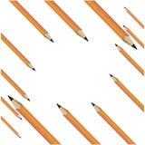 Fourteen yellow pencils. Vector illustration Royalty Free Stock Photo