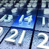 Fourteenth calendar day Royalty Free Stock Image
