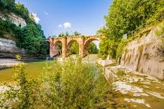 Fourteenth century bridge in masonry Royalty Free Stock Photography