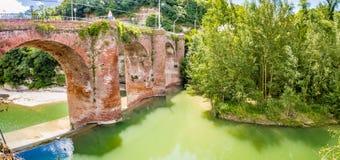 Fourteenth century bridge in masonry Stock Images