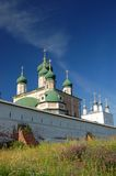 Fourteenth century monastery. In Pereslavl Russia  Yaroslavl region Stock Photos