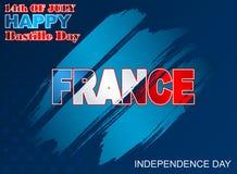 Fourteenth of July National Celebration of France, background Royalty Free Stock Photography