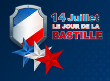 Fourteenth July National Celebration of France background Stock Photo