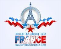 Fourteenth July National Celebration of France Royalty Free Stock Photos