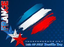 Fourteenth Lipa Krajowy świętowanie Francja, Bastille dzień, tło royalty ilustracja