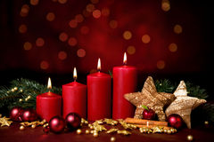 Fourth advent stock photo