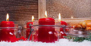 Fourth Advent, Advent decoration Stock Photography