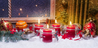 Fourth Advent, Advent decoration Stock Image