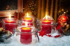 Fourth Advent, Advent decoration Stock Image