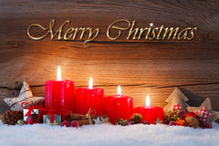 Fourth advent Royalty Free Stock Images