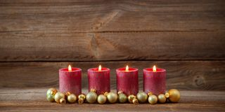 Fourth advent royalty free stock photo