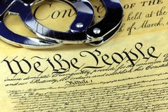 Fourth Amendment to the United States Constitution Royalty Free Stock Photos