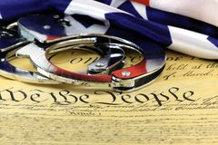 Fourth Amendment to the United States Constitution Stock Photo