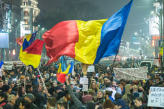 The fourth day of protest against coruption and Romanian Government Royalty Free Stock Images