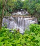 Fourth floor of Huay Mae Khamin waterfall Stock Photo