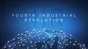 Free Fourth Industrial Revolution On Hud Banner. Stock Photos - 114514903