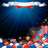 Fourth of July. Abstract background Royalty Free Stock Photo