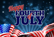 Fourth of July American Flag Background Royalty Free Stock Image