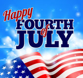 Fourth of July American Flag Background Sky Royalty Free Stock Photography