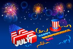 Fourth of July American Independence Day. Background for Fourth of July American Independence Day Royalty Free Stock Photos